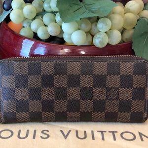 Authentic Louis Vuitton Clemence Wallet DE